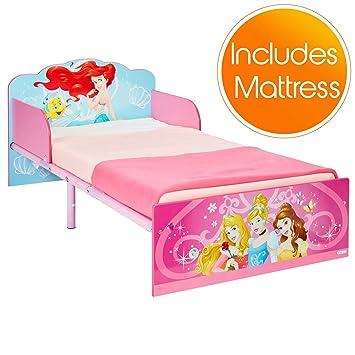 Disney Princess Toddler Bed con colchón de Espuma con Efecto Deluxe – Rosa