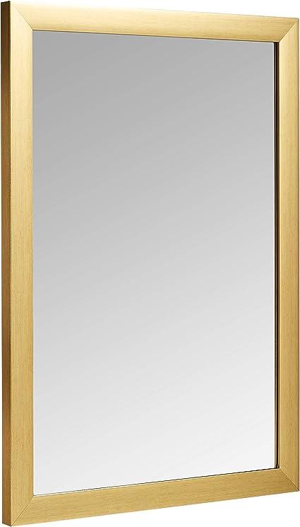 noce Basics Specchio da parete rettangolare da 50,8 x 71,1 cm finitura a sbalzo