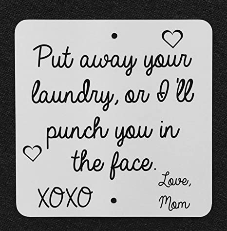 Fhdang Decor Put Your Laundry Away, Love Mom, Cartel de ...