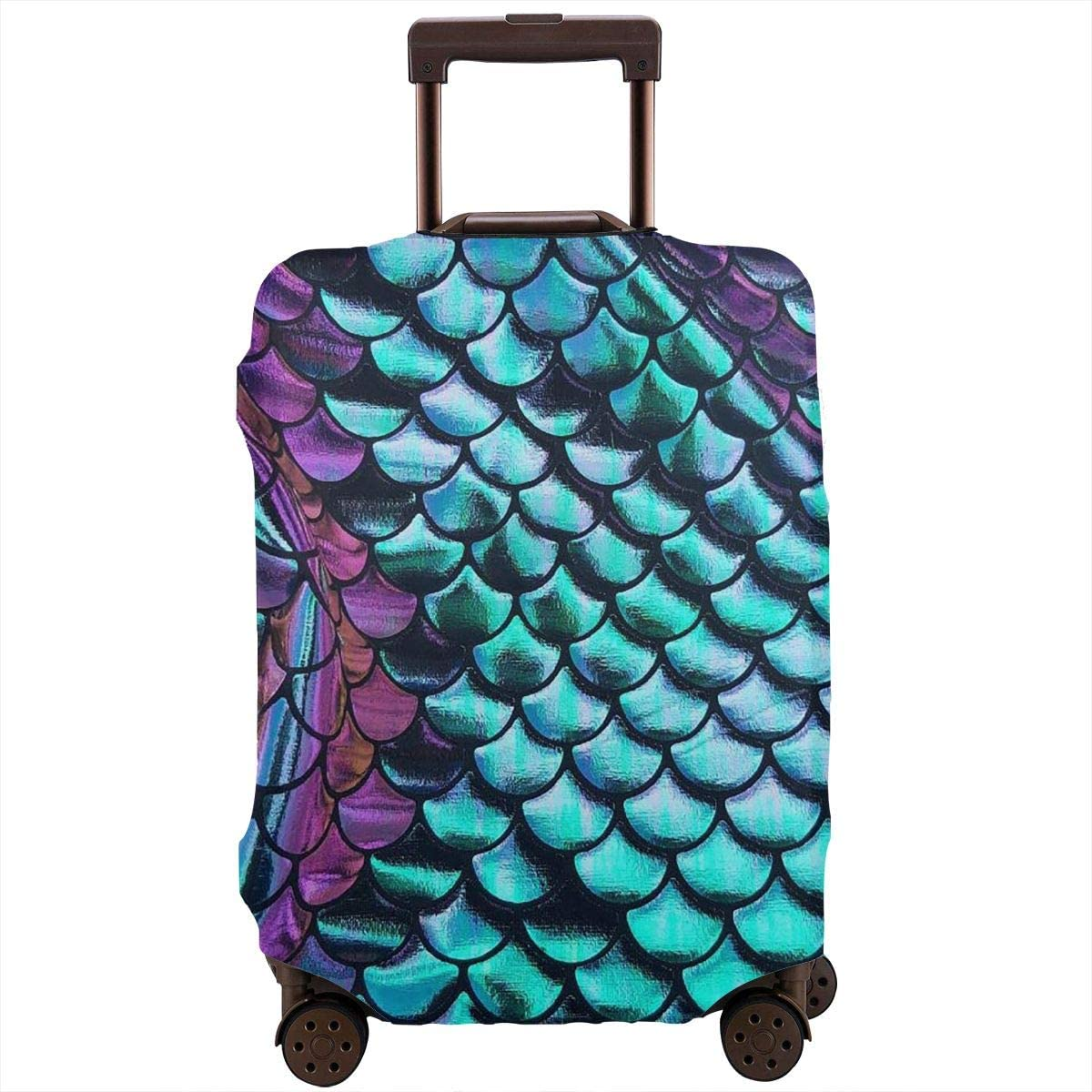Little Mermaid Travel Luggage Cover Suitcase Protector Washable Zipper Baggage Cover