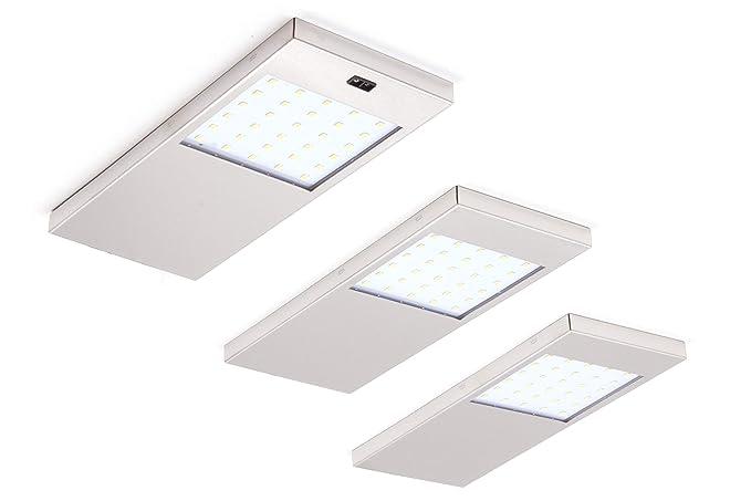 Juego de 3 luces LED de alta calidad - Luminarias para parte inferior de muebles -