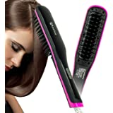 Apalus Hair Straightening Brush, Ceramic Hair Straightener, Straight Hair Styling