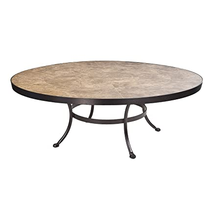 OW Lee Monterra Coffee Table Base With 54u0026quot; Round Top In Copper Canyon  Finish,