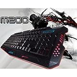 USB Crack Illuminated LED Backlit Multimedia Computer PC Gaming Keyboard [sfc]
