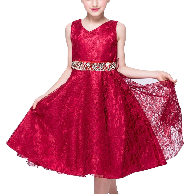 LaoZan LaoZan Mädchen Kinder Kleid Festkleid Partykleider Hochzeit ...