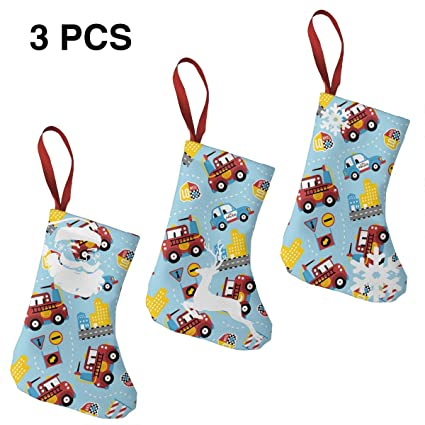 Amazon Com Firefighter Police Car 7 5 Mini Christmas Stockings