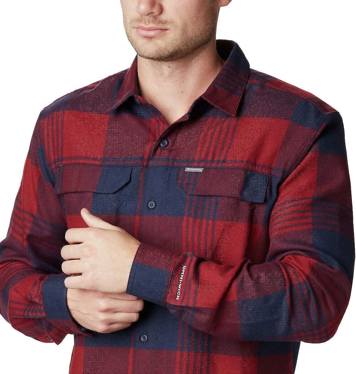 XX-Large Grey Buffalo Plaid Columbia Mens Standard Silver Ridge Flannel Long Sleeve Shirt