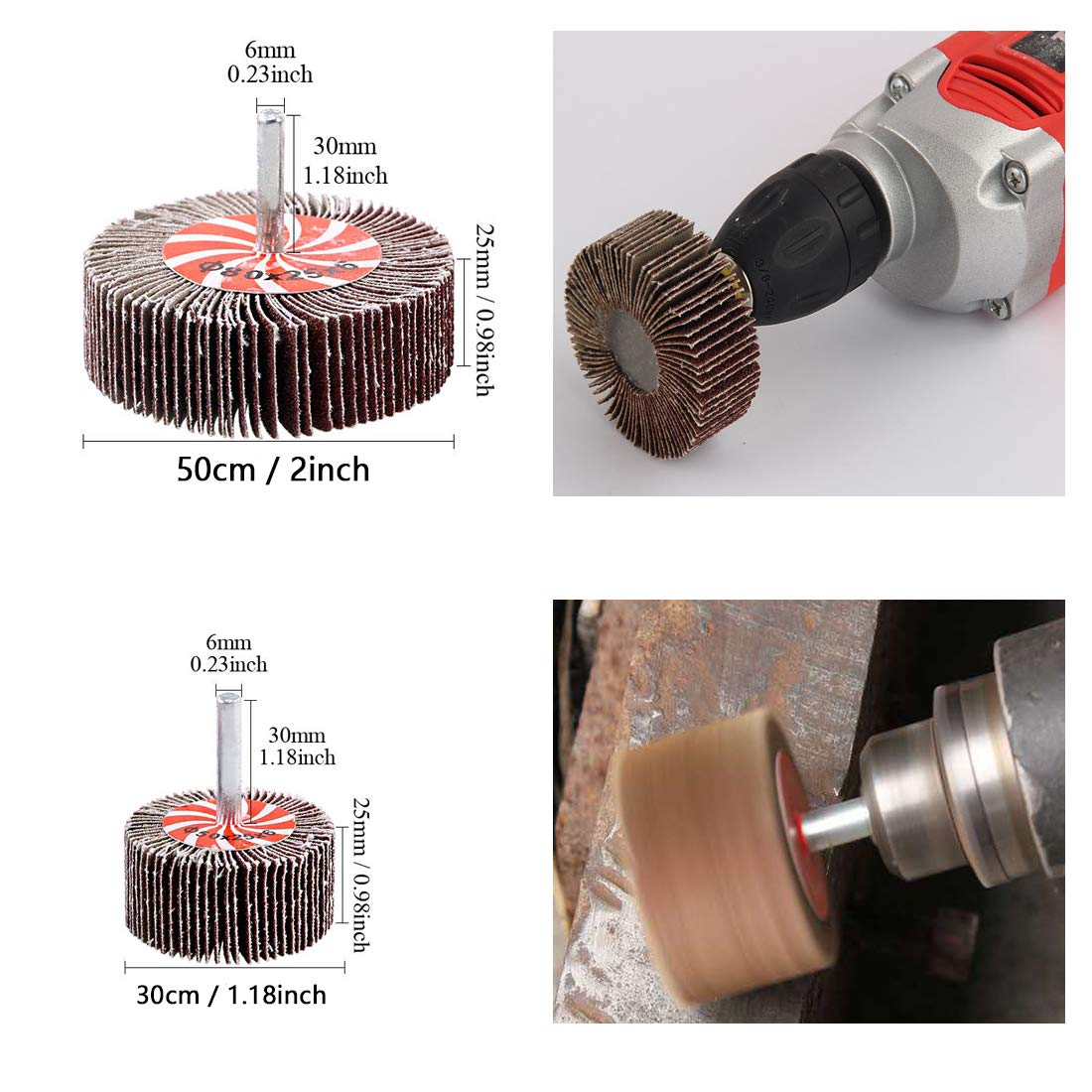 Esoca 13Pcs Wire Wheel Brush Knotted /& Crimped Wire Cup Wheels Brush /& Carbon Knot Wire Drill Brush Set with 1//4-Inch Shank For Rust Removal Corrosion and Scrub Surfaces