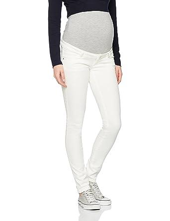 c6f87c84b7143 Mamalicious Women's Mlsigga Slim Plain Jeans B. Maternity Trousers,  Off-White (Antique