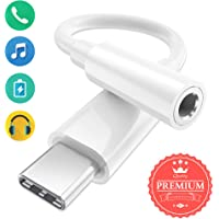 USB C to 3.5mm Headphone Jack Adapter Whihge Type C to Aux Female Audio Adapter Cable Dongle Compatible for Huawei Mate10 Pro, 20 Pro, P20, P20 Pro, Samsung Note 10, 10+, Pixel 3, 3XL, Xiaomi - White