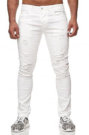 Kleidung & Accessoires Herren Jeans Hose Jogging Denim Röhre