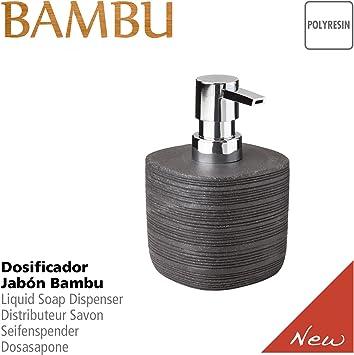 TATAY Bambu Bicchiere Poliresina 7,3 x 7,3 x 9,9 cm Nero