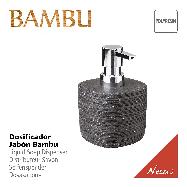 Tatay Bambu - Dispensador de jabón líquido, poliresina, Negro, 8,9 x 8,9 x 12,9 cm: Amazon.es: Hogar