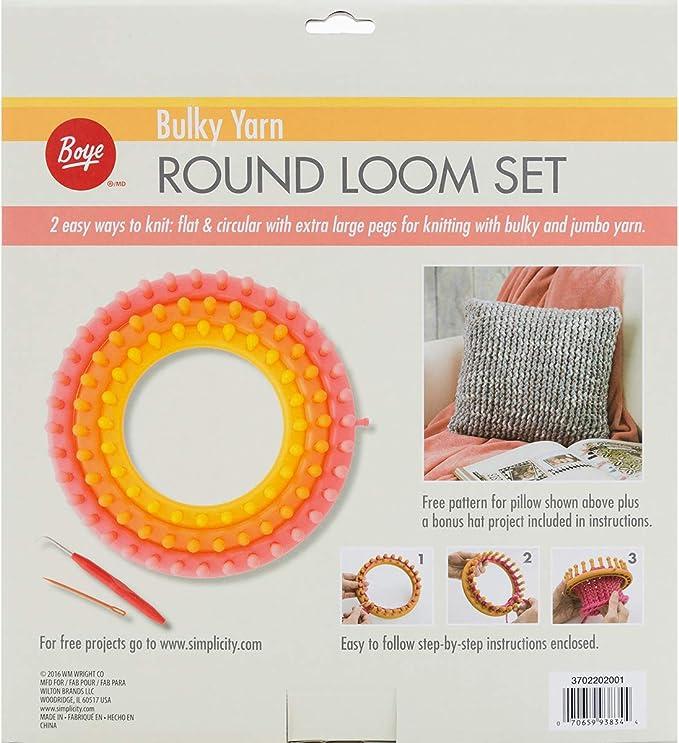 Set of 4 Round Plastic Knitting Looms Y1U3