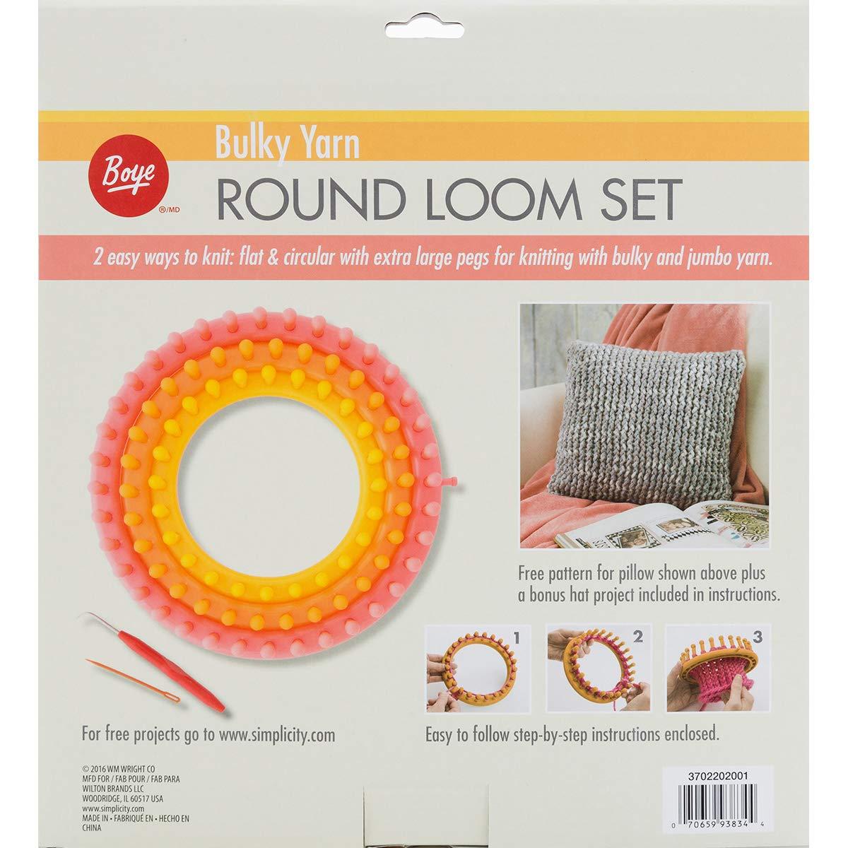 Boye Circular voluminosos Loom Set, Lime, 14 x 5 x 5 cm ...