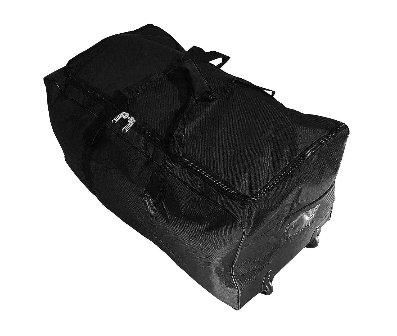 Bolsa de viaje deportes maleta trolley grande 140L con ruedas. Talla XXL. Negro