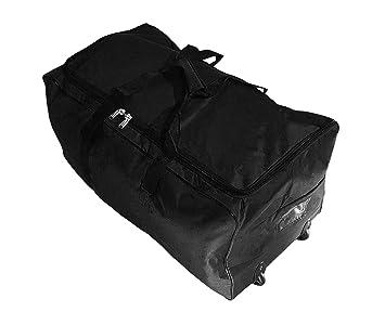 Bolsa de viaje deportes maleta trolley grande 140L con ruedas. Talla XXL. Negro: Amazon.es: Equipaje