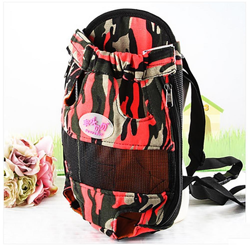Red Large Red Large LOHUA Pet Carrier Backpack, Adjustable Pet Front Cat Dog Carrier Backpack Travel Bag