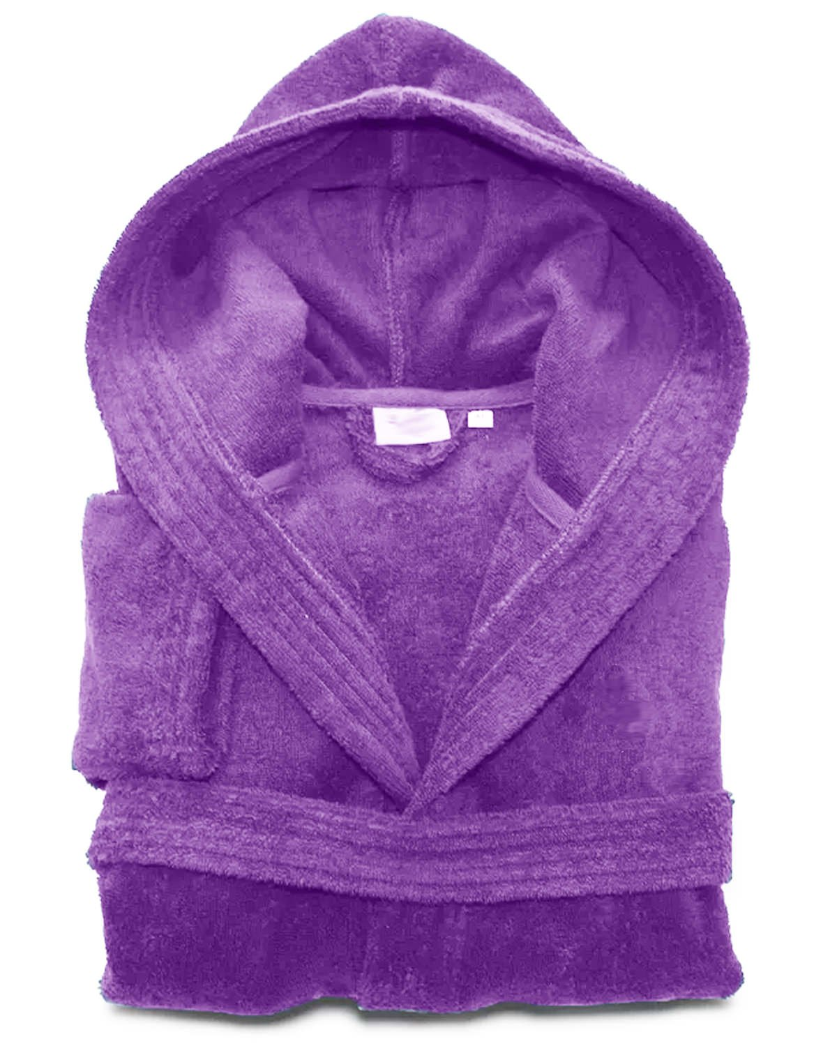 Mens /& 100/% Egyption Cotton Grey Terry Towelling Hooded Bathrobe