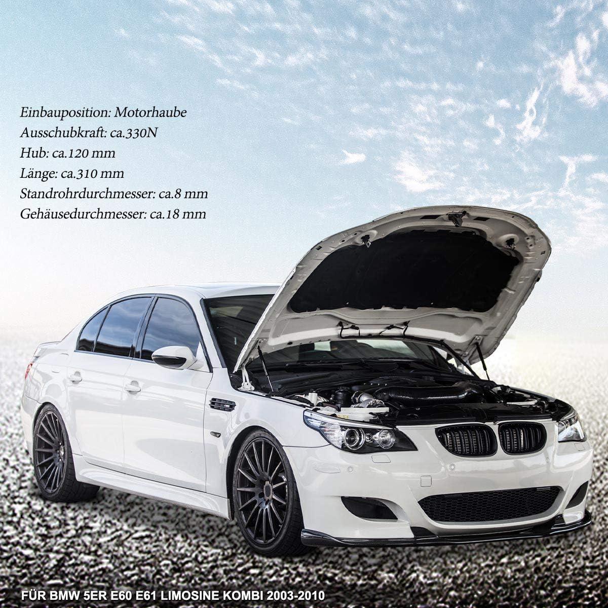 2 X Gas Spring Damper Bonnet For 5 Series E60 E61 520 523 525 530 535 540 550 2003 2011 51237008745 Auto