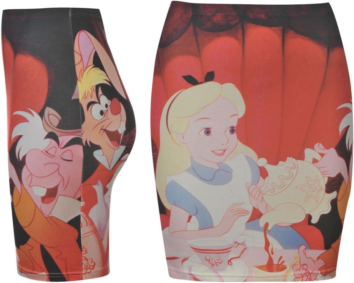 Disney Alice in Wonderland Tubo Falda Mujer Rojo/Multi Carácter ...
