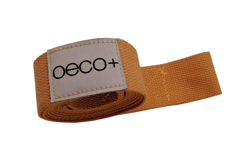 Oeco Plusヨガマットスリング、有機コットン&ヘンプ、調節可能2 in 1ヨガマットキャリア、環境に優しい(イエローゴールド)   B07CG1NFB4