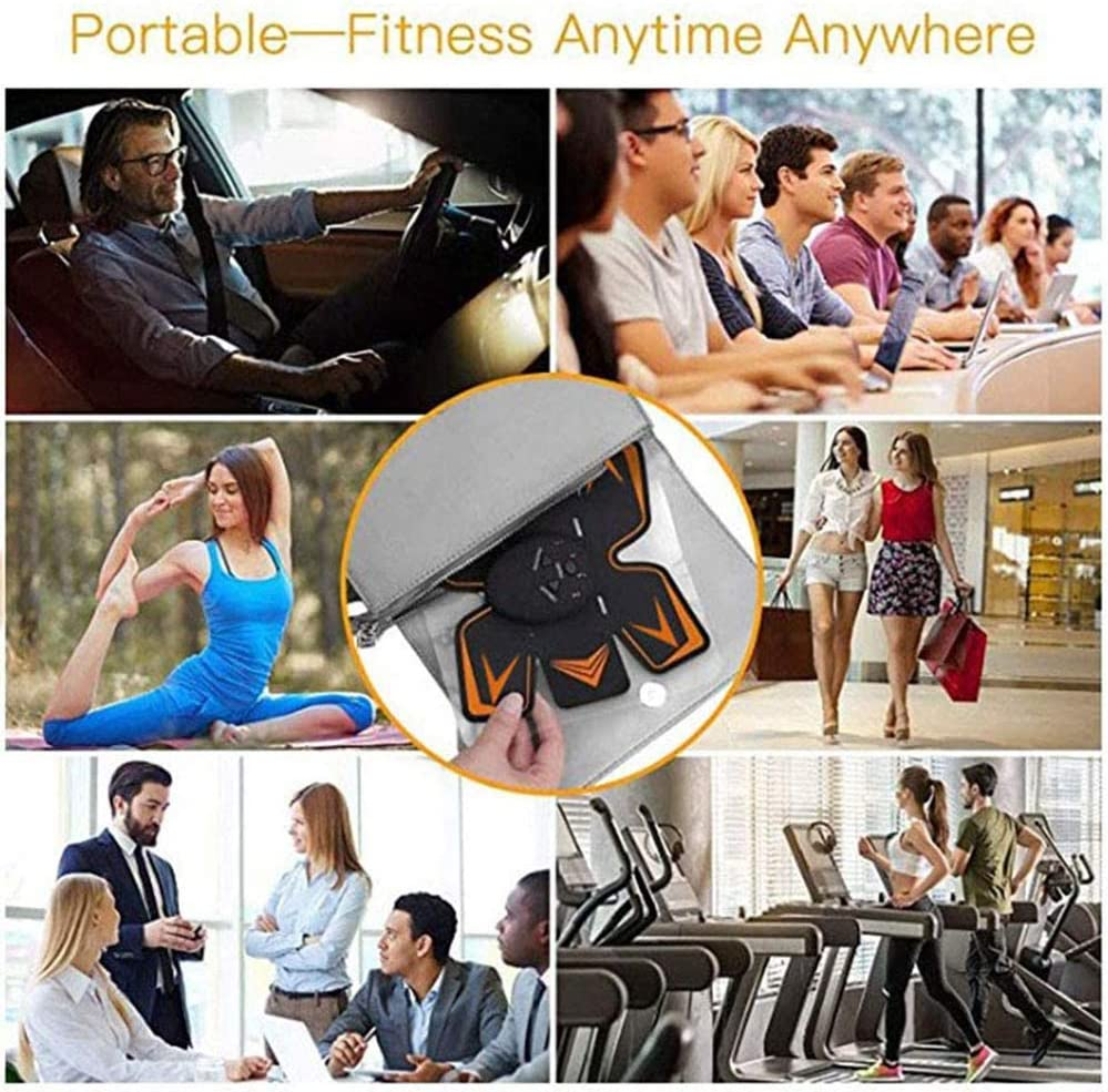 10 Pcs Free Gel Pads Abs Trainer Ab Trainer for Men Women Abdominal Work Out Ads Power Fitness Abs Muscle Training Gear Workout Equipment Trainer Abs Belt Abs Trainer Muscle Trainer with 5 Packs