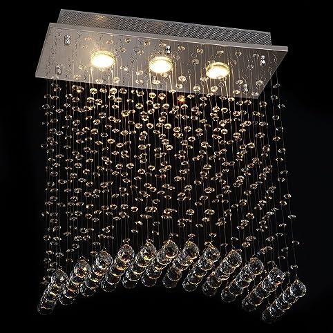 Dst Moderen Brücke Welle Kristall Licht Deckenleuchte Kronleuchter Für  Esszimmer Wohnzimmer Schlafzimmer Arbeitszimmer L50cm W20cm H58cm