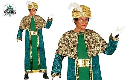 Guirca- Disfraz Rey Mago Baltasar para adulto, Color verde, talla L (42402.0)
