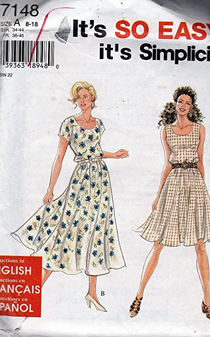Simplicity Sewing Pattern 7148 Misses/Petite Dress 8-18
