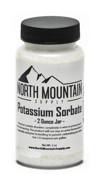 North Mountain Supply - PS-2OZ Food Grade Potassium Sorbate Stabilizer - 2 Ounce Jar