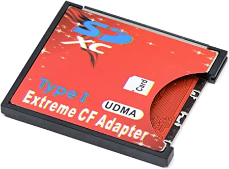 Camera SD SDHC SDXC to High-Speed Extreme Compact Flash CF Type I Memory Card Adapter