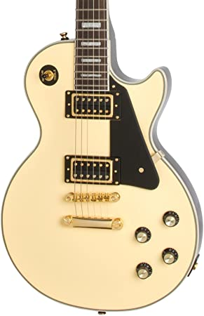 Epiphone Les Paul Custom Blackback Pro – Guitarra eléctrica, color beige