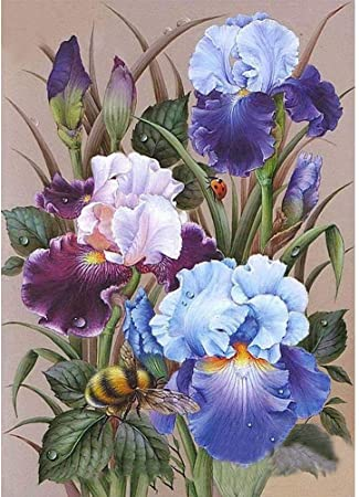 Flowers DIY 5D Full Drill Diamond Painting Embroidery Cross Stitch Kit Decor