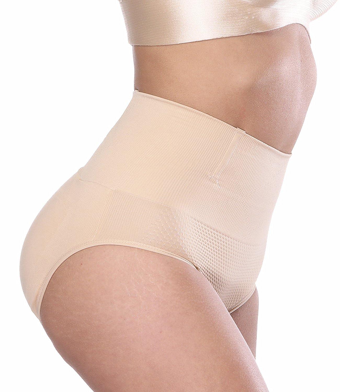 8f66aca121a9b LAZAWG Women Butt Lifter Pads Tummy Control Mid Rise Body Shaper Panty  Shapewear at Amazon Women s Clothing store