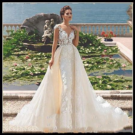 QING XIN-1225 Robe de mariée Profonde Encolure