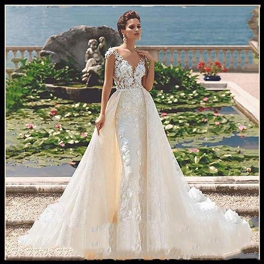 Vestido de novia Vestido de novia de escote en V profundo del ...