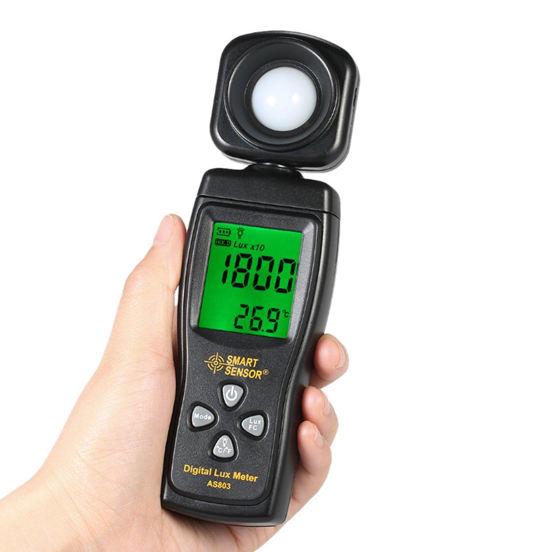 Luminance Tester Digital Lux Meter Light Meter 1-200000 Lux Tools Photometer Spectrometer Actinometer AS803 by WULE-Digital multimeter (Image #6)
