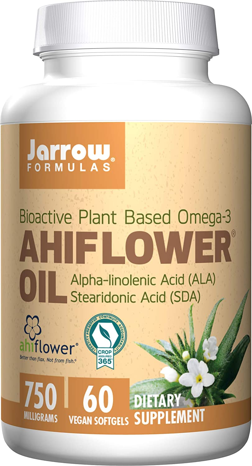 Jarrow Formulas Ahiflower Oil, Supports Brain and Memory, 750 mg, 60 Count