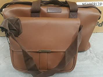 45b07fa55a1 Image Unavailable. Image not available for. Colour  Blackberry Duffle    Sling Bag Combo - Brown