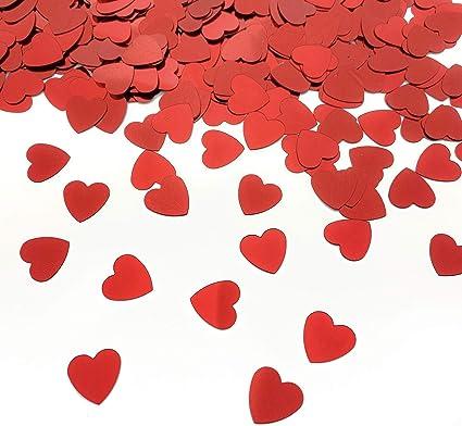 Confetti Hearts Anniversary Romantic Love Party Table Scatter Decor Wedding