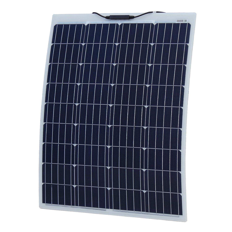 German Solar Cells 100W 12V Aluminium Reinforced Semi-Flexible Dual Battery Solar Charging Kit
