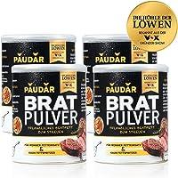 PAUDAR Bratpulver | Vegan, leicht dosierbar | 100 % pflanzlich, reduziert Fettspritzer, fettarme Zubereitung von Fisch, Fleisch, Gemüse [4 x 125g]