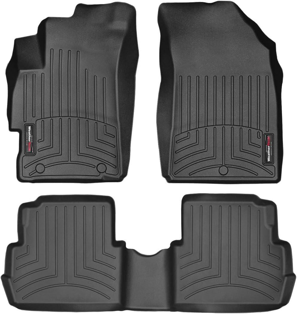 44528-1-2 FloorLiner, Front//Rear, Black WeatherTech