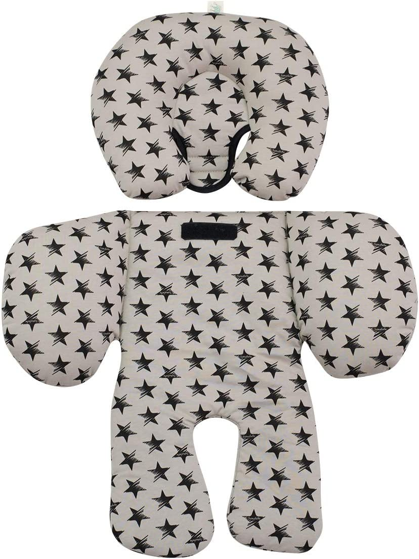 Blue Sparkles JANABEBE Reducer cushion Infant Head /& Baby Body Support Antiallergic 2 PIECES