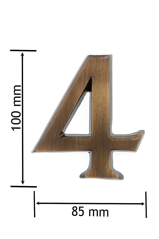 elegante dreidimensionales Dise/ño Huber N/úmero de Casa lat/ón antiguo 10/cm