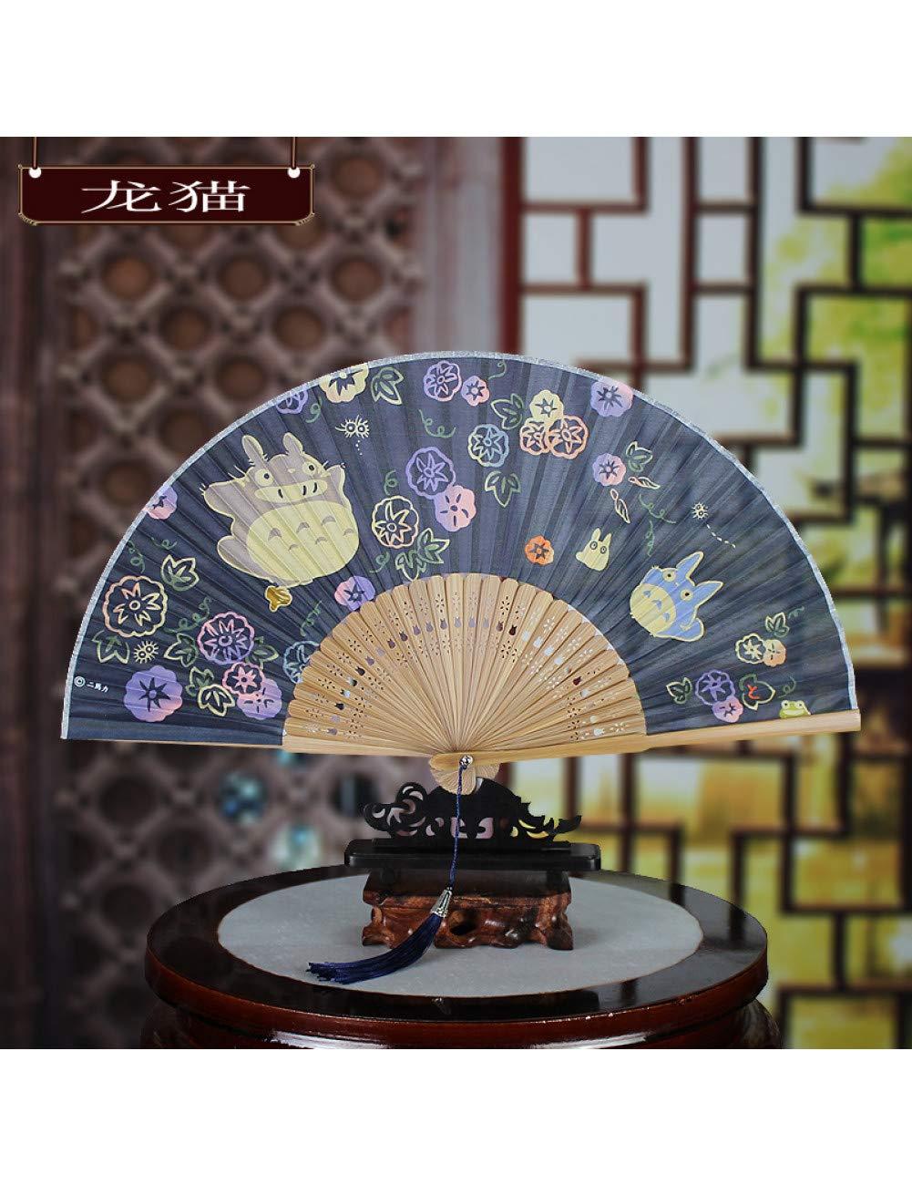 DSFH Ventilateur Pliant Ventilateur Pliant Ventilateur Style Chinois Ancien Vent Classique Ventilateur Pliant Fleurs De Cerisier Pliant Petit Ventilateur