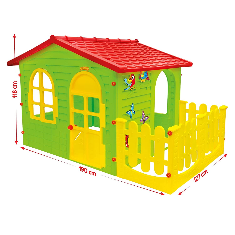BIG Haus für Kinder mit Garten MOCHTOYS Spielhaus