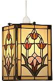 Oaks Lighting Garden Tiffany - Pantalla para lámpara de techo