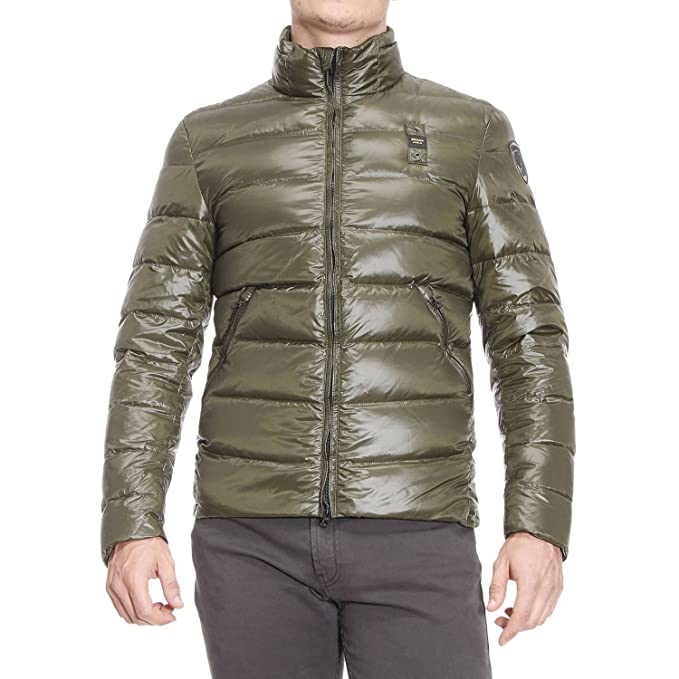 Blauer - Chaqueta Impermeable - Plumaje - para Hombre Verde Militar S: Amazon.es: Ropa y accesorios